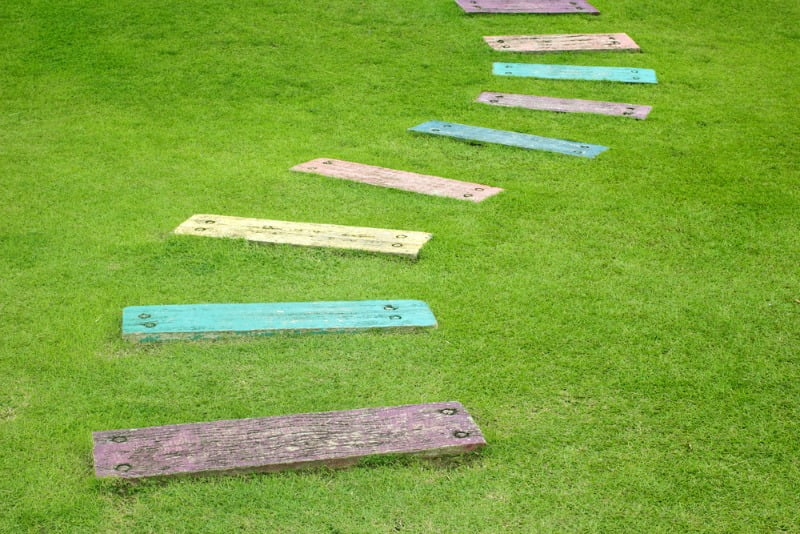 Colourful garden path ideas