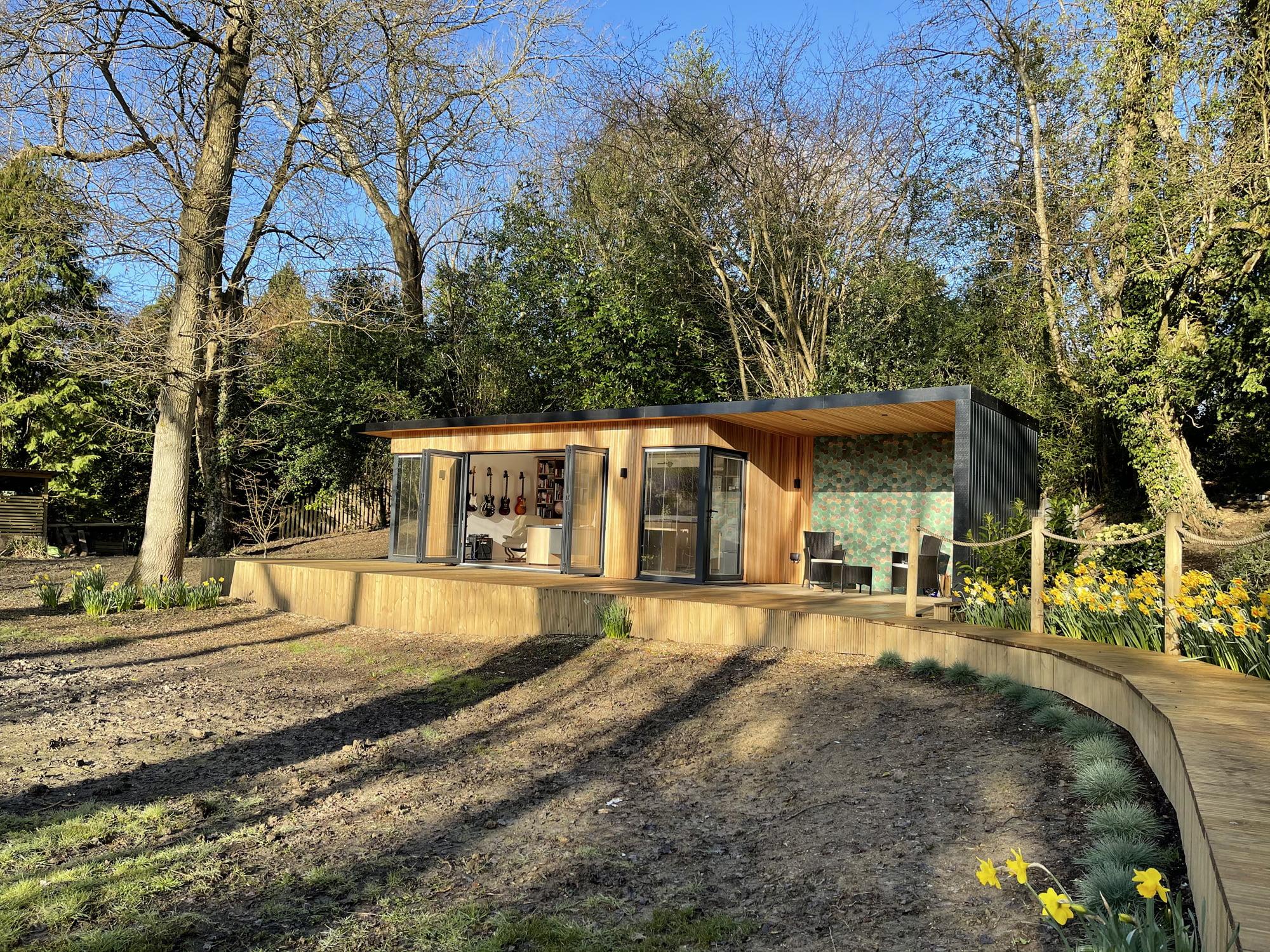 Bespoke garden office and bridge